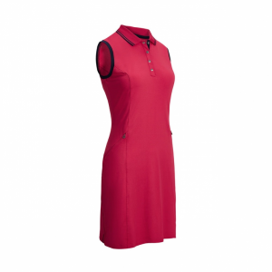 GOLF DRESS WITH RIBBED TIPPING